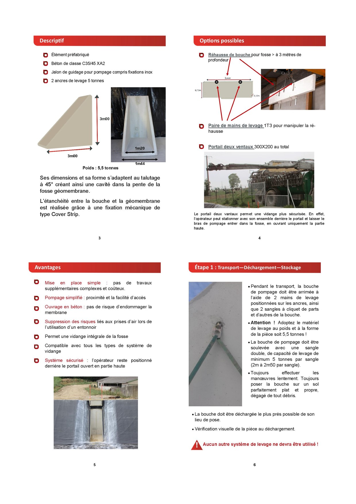 FICHE TECHNIQUE BOUCHE DE POMPAGE - page 1