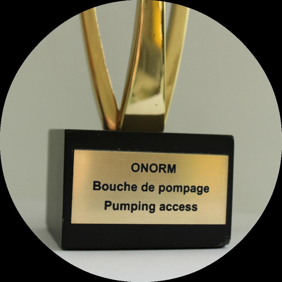 EVODIS dépose un brevet pour la création de la bouche de pompage en 2015 ; cette pièce est destinée à simplifier et sécuriser la vidange des fosses. Cette invention a reçu le trophée Innov'Space la même année.