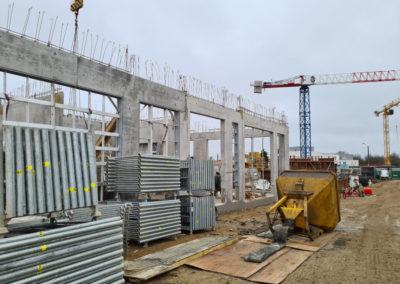 Poutres EVODIS sur chantier aux Sorinières